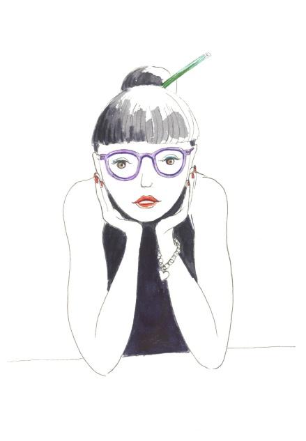 miss crayon ds les cheveux